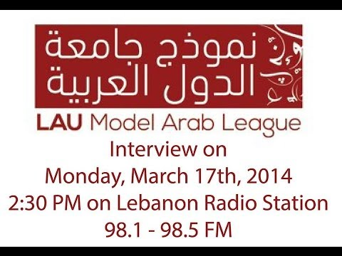 LAU Model Arab League Interview '14 @ Radio Liban