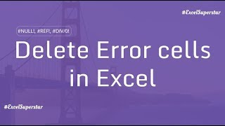 Delete Error Cells using Go To - Special in Excel in Hindi