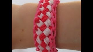 Rainbow Loom- How To Make A Chinese Finger Trap Bracelet