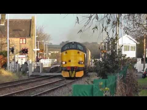 Class 37's on the North West flasks, 37259/37606 6c51 and 37601/37604 6k73 4th December 2013