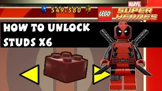Lego Marvel Super Heroes How To Unlock Studs X6 Deadpool