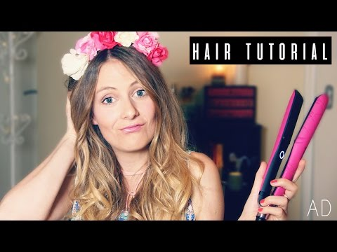 EASY BEACH WAVES TUTORIAL (using ghd straighter!)
