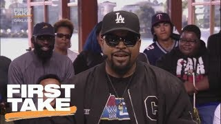 Ice Cube Loves LaVar Ball's Promotion Of Lonzo   First Take   June 2, 2017