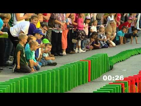 Domino Day - Grund- und Mittelschule Rinchnach 2011