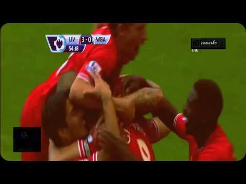 Liverpool vs West Bromwich 4-1 Luis Suarez Superb Hattrick! 26-10-2013
