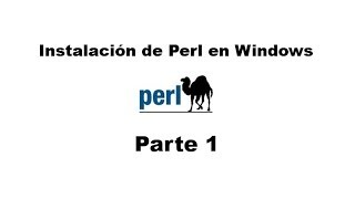 Perl tutorial. Parte 1