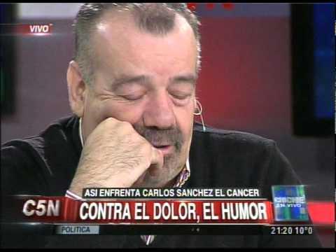 C5N - CHICHE EN VIVO: ASI ENFRENTA CARLOS SANCHEZ EL CANCER