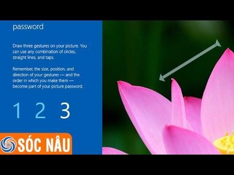Cách tạo mật khẩu bằng hình ảnh trên Windows 8