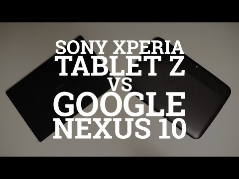 0 Sony Xperia Tablet Z vs Google Nexus 10