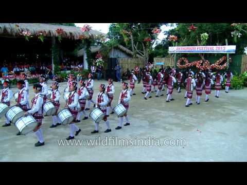 Mizoram pipers band smartly taking part at Anthurium fest