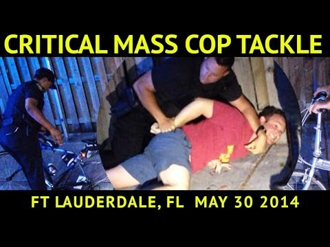 Fla. cops tackle cyclist at Critical Mass