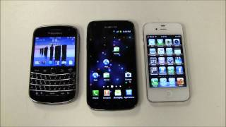 Blackberry Vs IPhone Vs Android FACE OFF!!!