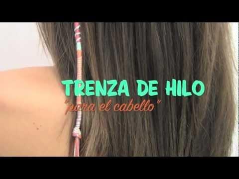 TRENZA DE HILO PARA EL CABELLO