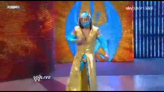 WWE Raw Sin Cara (Debut) Attacks Sheamus