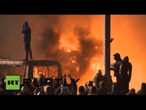 Ukraine Pandemonium: Kiev ablaze as protest rages through night
