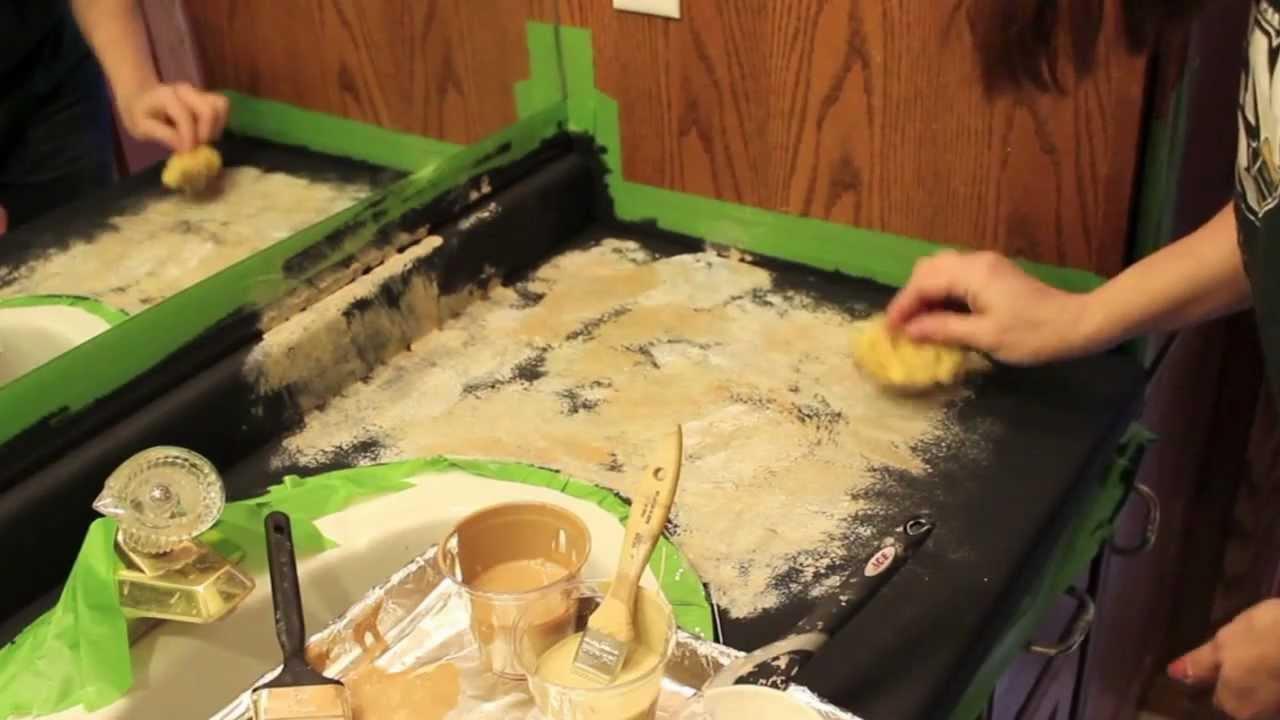 Transforming/Painting Countertops - DIY! - YouTube