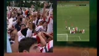 Narração emocionante do final do jogo entre São Paulo e Liverpool