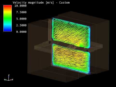 Fire dampers fluid dynamic simulation