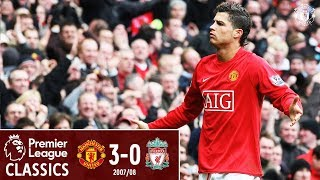 Ronaldo stars as United beat 10-man Liverpool | Manchester United 3-0 Liverpool (2008) | Classics
