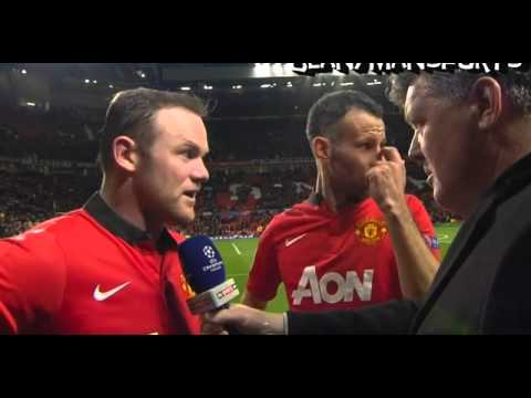 Manchester United 3-0 Olympiakos - Rooney & Giggs Interview