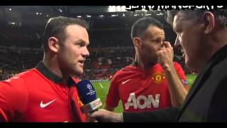 Manchester United 3-0 Olympiakos – Rooney & Giggs Interview