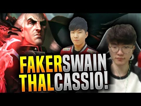 Faker vs Thal! - Faker Swain vs Thal Cassiopeia - SKT T1 Faker Plays Swain Top! | SKT T1 Replays