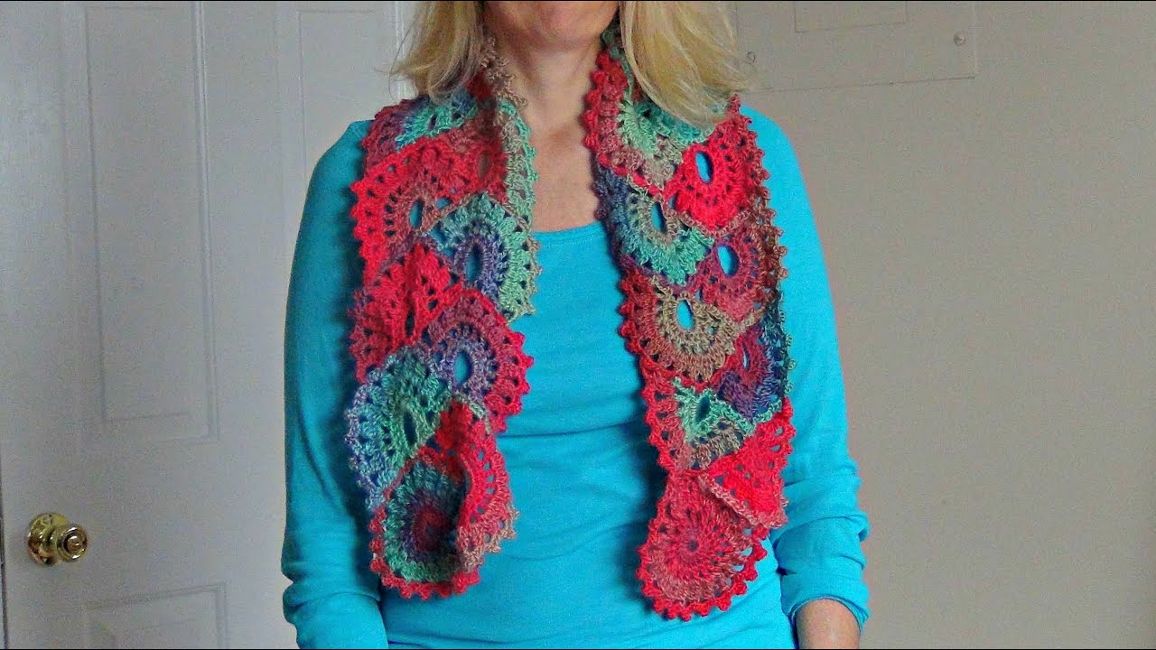 Youtube Crocheting A Scarf : How to Crochet a Scarf in Ribbon Lace - YouTube