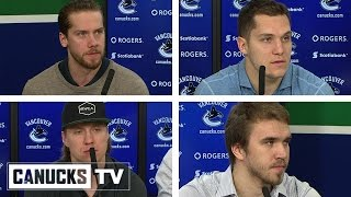 Horvat, Markstrom, Granlund, Tryamkin Media Availability (Apr. 11, 2017)