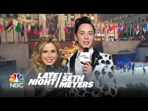 Johnny Weir and Tara Lipinski: 30 Rock Skating Commentary - Late Night with Seth Meyers
