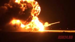 У мережі з'явилося відео торішньої катастрофи російського стратегічного бомбардувальника