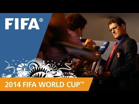 Russia's Fabio CAPELLO Final Draw reaction (Italian)