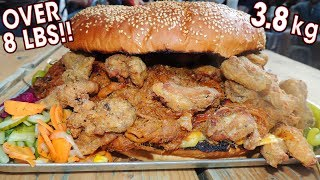 "Undefeated ""Big Nasty"" Burger Challenge w/ Pulled Chicken & Pork!!"