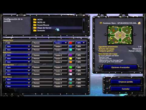 descargar PACK de mapas de NARUTO para WARCRAFT (FRONZEN THRONE)