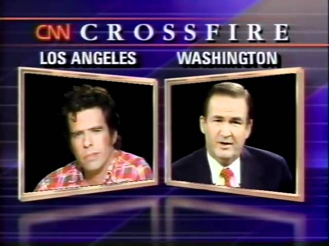 Mojo Nixon vs. Pat Buchanan / CNN Crossfire 1990 (part 1)