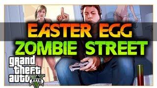 GTA 5: EASTER EGG ZOMBIE EN LAS CALLES DE GTA!!/ ZOMBIE
