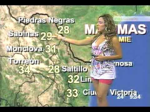 la chica del clima de Televisa Monterrey  -   Karla Marqueda