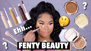 TESTING NEW FENTY BEAUTY CONCEALER & SETTING POWDER | HOT OR NOT?