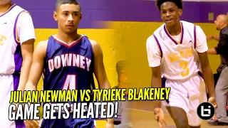 Julian Newman vs Tyrieke Blakeney PG Battle!! Full Highlights!