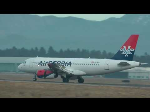 Welcome back ;) Air Serbia Airbus A319 @ Brnik airport ( LJU/LJLJ ) HD