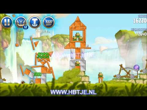 Angry Birds Star Wars 2 Naboo Invasion All Levels B1-1 To B1-20 3-Stars