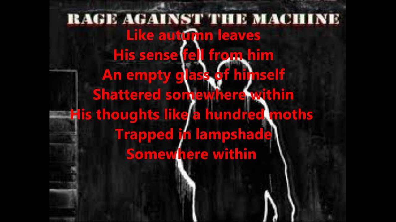 rage against the machine born of a broken