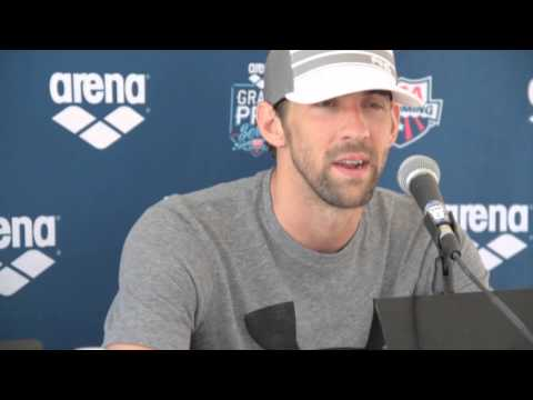 Michael Phelps 50 Butterfly Post Race Interview - 2014 Arena Grand Prix at Mesa