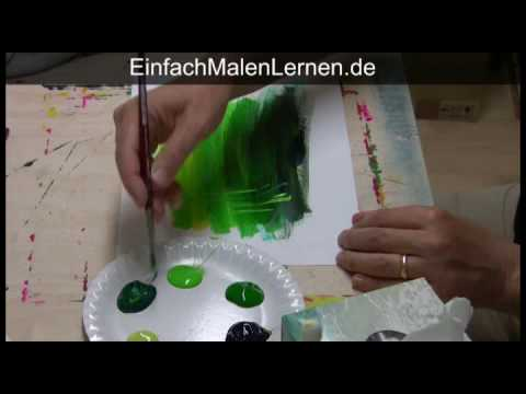 malkurs malen mit acryl 1 von 5 youtube. Black Bedroom Furniture Sets. Home Design Ideas