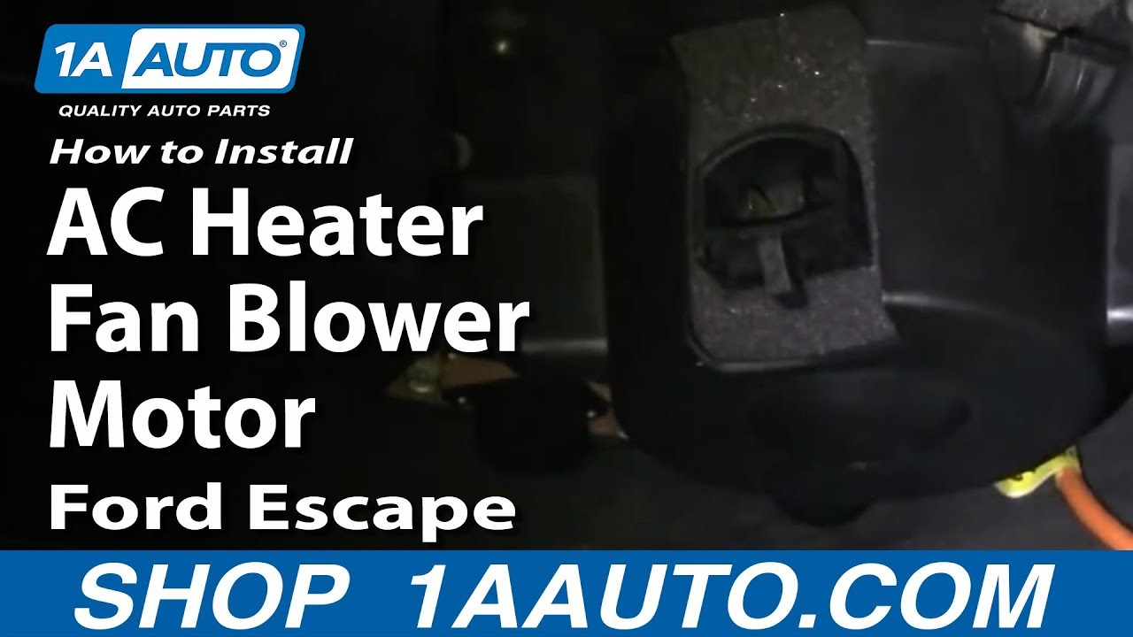 How To Install Replace Ac Heater Fan Blower Motor Ford