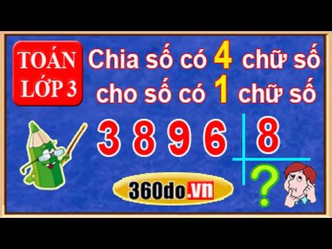 Toan Lop 3: Chia Số Có 4 Chữ Số Cho Số Có 1 Chữ Số