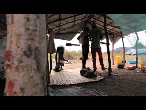 Two girls forced to flee from South Sudan