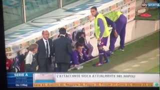 02/05/2012 - Delio Rossi aggredisce Adem Ljajic in panchina. L'incredibile episodio è avvenuto attorno al 32' del primo tempo di Fiorentina-Novara