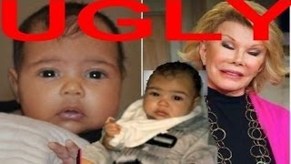 [Kanye West's 'UGLY' Daughter In Need Of A Waxing @ Joan Rivers] Video