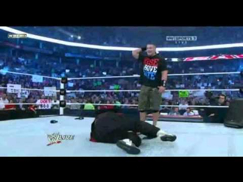 WWE RAW 11-14-2011 - The Rock Returns & gives a rock bottom to Mick Foley!