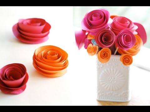 Create easy paper flowers beautiful flowers video how to make a colorful rose flower from printer paper mightylinksfo